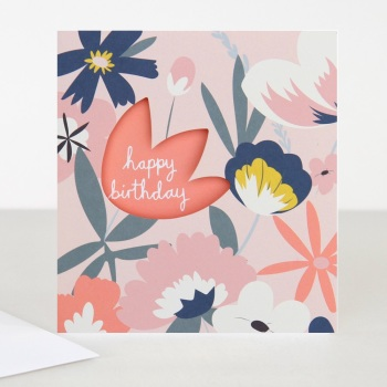 Happy Birthday Floral - Card