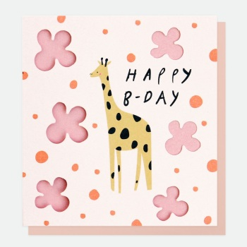 Happy B-Day Giraffe - Card