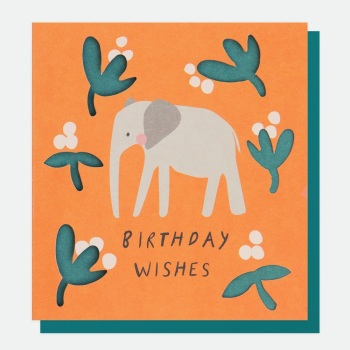 Elephant Birthday Wishes- Card