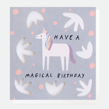 Unicorn Magical Birthday - Card