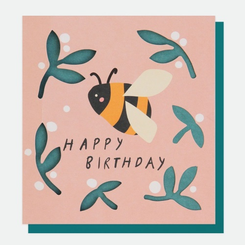 bee Birthday card, happy birthday card, modern birthday cards