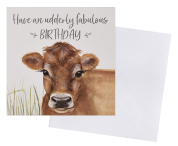 Udderly Fabulous Birthday - Card