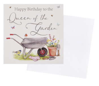 Queen of the garden Birthday - Card