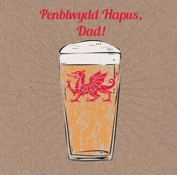 Beer - Penblwydd Hapus Dad  - Card