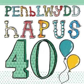Penblwydd Hapus - 40 - Card
