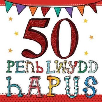 Penblwydd Hapus - 50 - Card