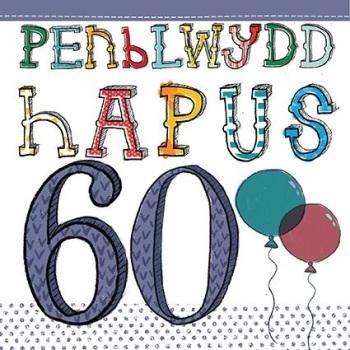 Penblwydd Hapus - 60 - Card