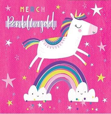 Merch Penblwydd  - Card