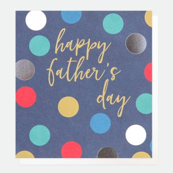 Happy Father's Day Blue Spotty - Card