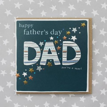 Happy Father's Day Starry - Card