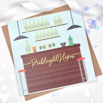 Bar - Penblwydd Hapus  - Card