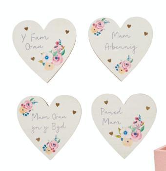 Welsh Floral Heart - Coaster