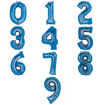 Giant Number Balloon - Blue - Various Choice