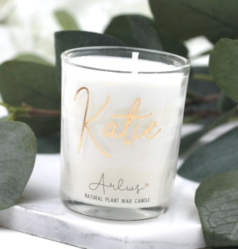 Arlws - Gold Personalised - Small Candle