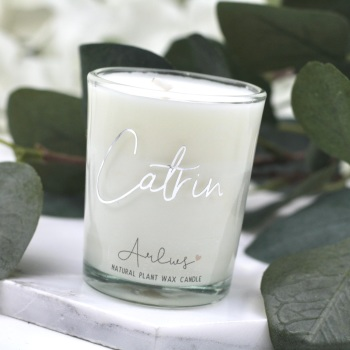 Arlws - Silver Personalised - Small Candle