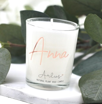 Arlws - Rose Gold Personalised - Small Candle