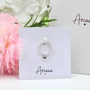Ariana - Heart Charm Ring - Silver