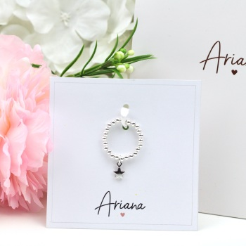 Ariana - Star Charm Ring - Silver