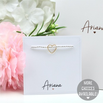Ariana - Plain Bracelet Card - Various Choice