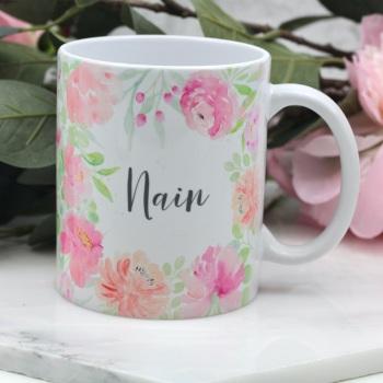 Floral Watercolour - Nain - Mug