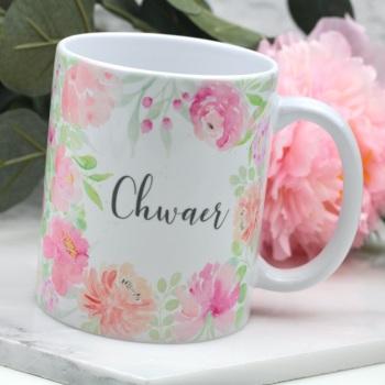 Floral Watercolour - Chwaer - Mug
