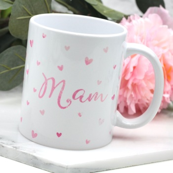 Dotty Hearts  - Mam - Mug