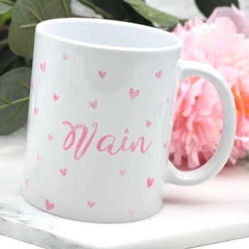Dotty Hearts - Nain - Mug