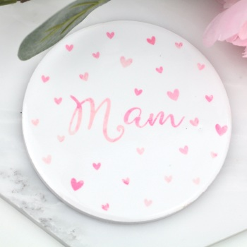 Dotty Hearts - Mam - Coaster