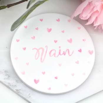 Dotty Hearts - Nain - Coaster