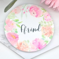 Floral Watercolour - Ffrind - Coaster