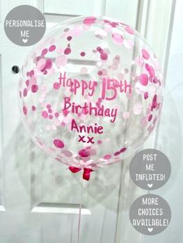 Confetti Bubble Balloon - Pink Ombre