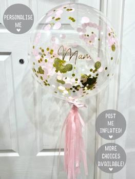 Confetti Bubble Balloon - Gold & Pink