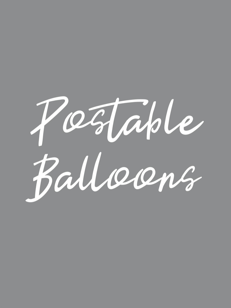 Postable Inflated Balloons