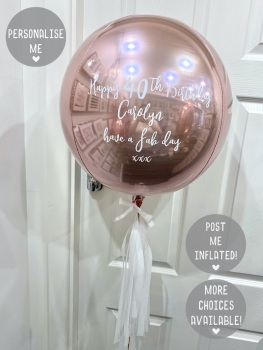 Personalised Orb Balloon - Rose Gold