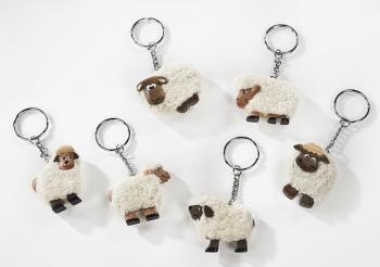 White Fluffy Sheep - Keyring