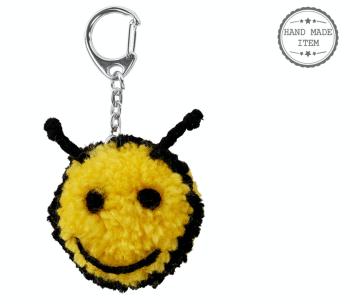Bee Pom Pom - Keyring