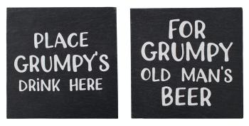 Grumpy - Slate Coaster