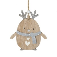 Wooden Penguin - Hanging Decoration