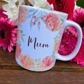 Floral Watercolour - Mum - Mug