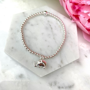 Elephant Bracelet - Silver