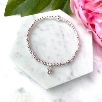 Mini Heart Bracelet - Silver