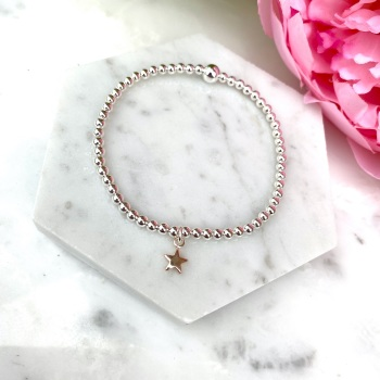 Mini Star Bracelet - Rose Gold