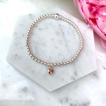 Mini Heart Bracelet - Rose Gold