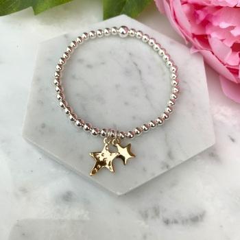 Double Star Bracelet - Gold