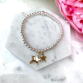 Double Star Bracelet - Rose Gold