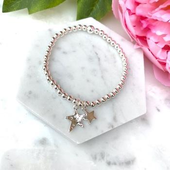 Double Star Bracelet - Silver