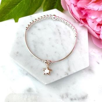 Noodle Bracelet - Star - Rose Gold