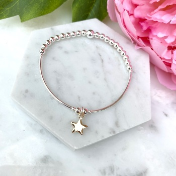 Noodle Bracelet - Star - Gold