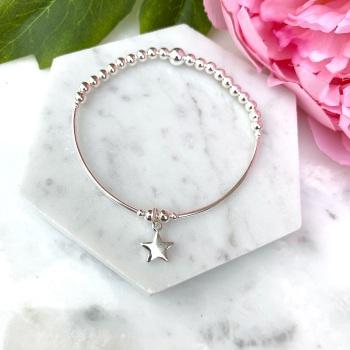 Noodle Bracelet - Star - Silver