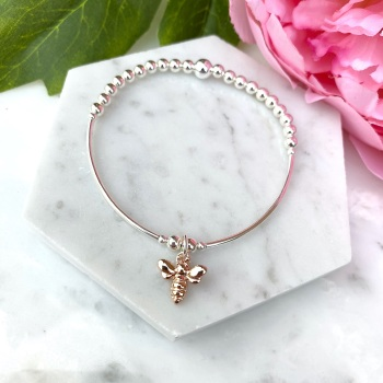 Noodle Bracelet - Bee - Rose Gold